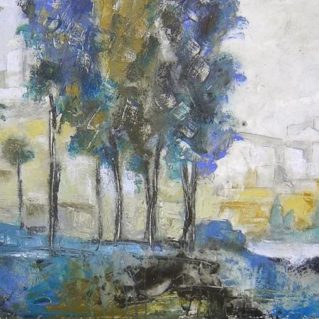 Cuadro abstracto del artista JEREMIAS . Pintura en acrilico en 160x80cm y 180x80cm. Pintura arte