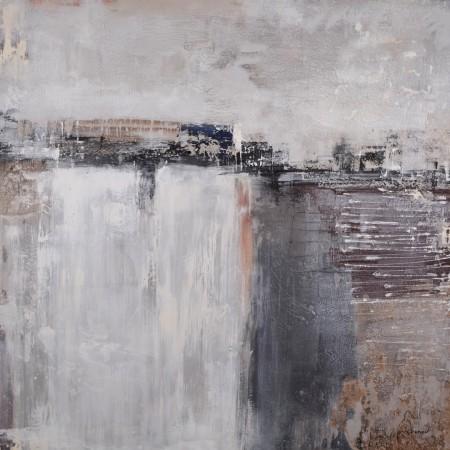 Cuadro abstracto del artista KONRAD. Pintura en acrílico en 125x125cm