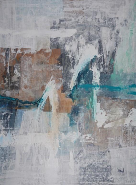 Obra abstracta de ARQUES. Pintura en acrilico en 130x97cm y 150x100 cm.