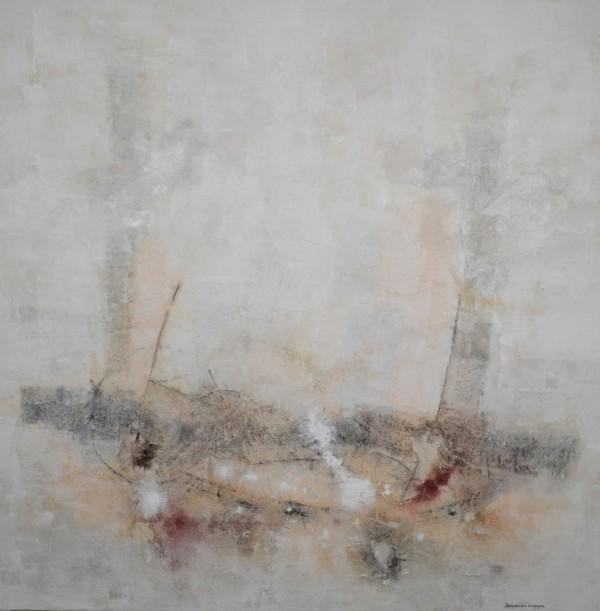 Cuadro abstracto del artista JEREMIAS . Pintura en acrilico en 150x150cm