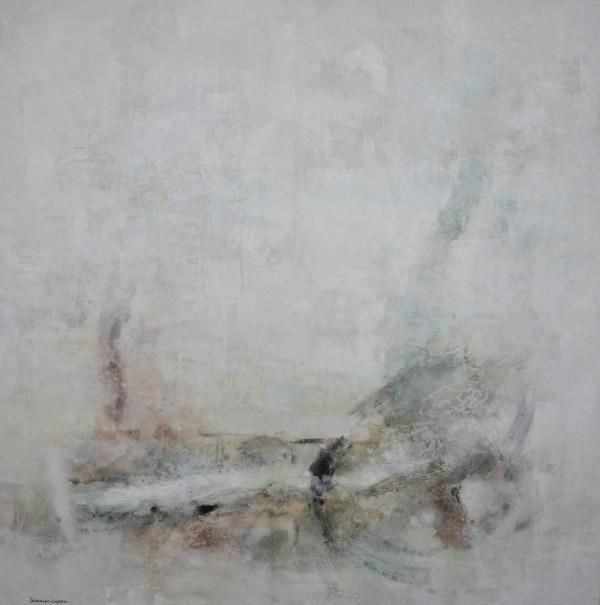 Cuadro abstracto del artista JEREMIAS . Pintura en acrílico en 150x150cm