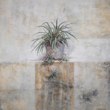 Cuadro figurativo del artista JEREMIAS . Pintura en acrílico en 125x125cm