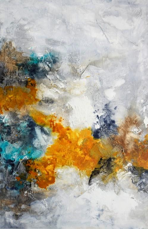 Cuadro abstracto del artista KONRAD. Pintura en acrílico en 130x97cm y 150x100cm. Pintura arte