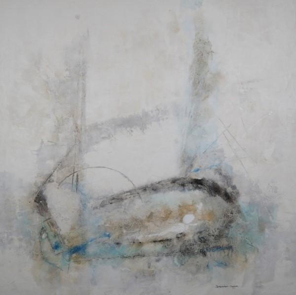 Cuadro abstracto del artista JEREMIAS. Pintura en acrílico en 150x150cm
