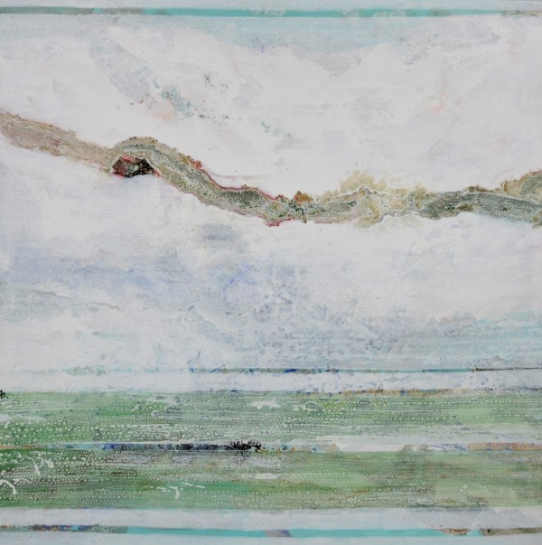 Cuadro abstracto del artista MEDINA. Pintura en acrílico en 150x150cm