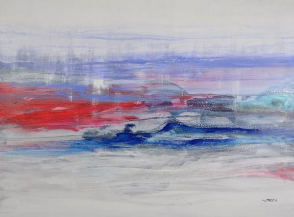Obra abstracta de BAENA. Pintura en acrilico en 130x97cm