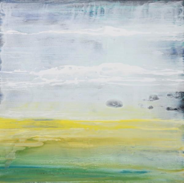 Obra abstracta de ARQUES. Pintura en acrilico en 125x125cm
