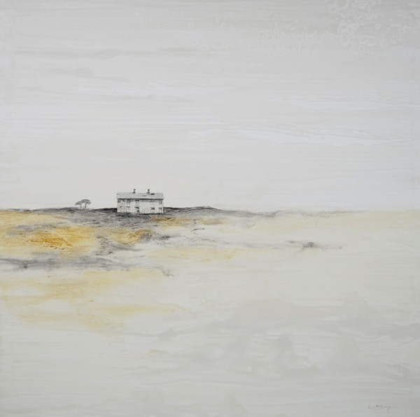 Obra abstracta de BAENA. Pintura en acrilico en 150X150cm y 125X125 cm y 100x100cm.