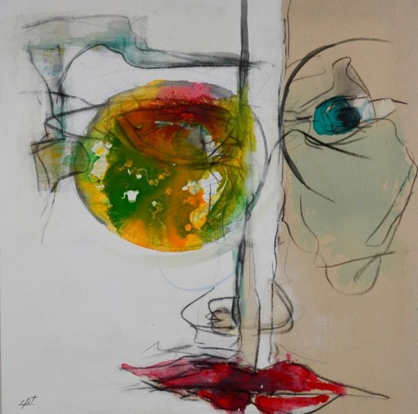 Obra figurativa de E.PONT. Pintura en acrilico en 100x100cm