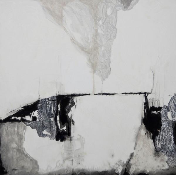 Obra abstracta de BAENA. Pintura en acrilico en 125x125cm y 150x150 cm y 100x100cm.