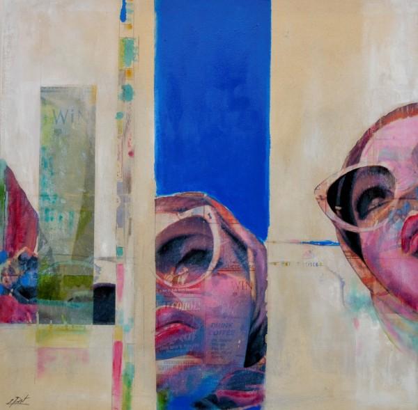 Obra figurativa de E.PONT. Pintura en acrilico en 150x150cm