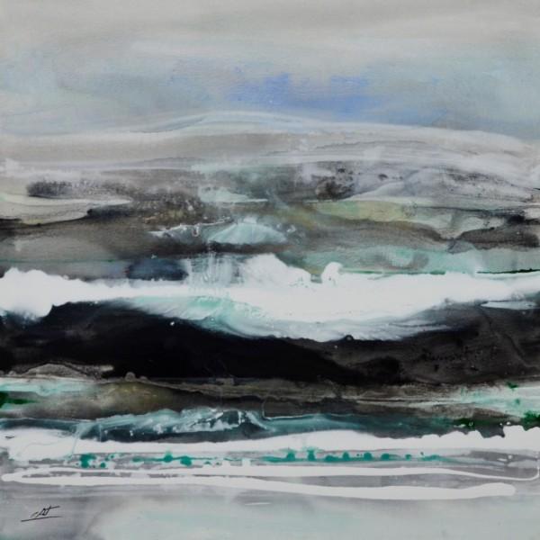 Obra abstracta de E.PONT. Pintura en acrilico en 100x100cm