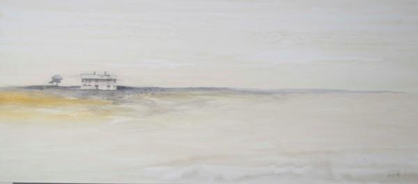 Obra abstracta de BAENA. Pintura en acrilico en 180x80cm