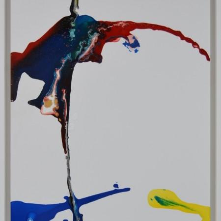 Obra enmarcada de E.PONT. Pintura en acrilico en 68x88cm.