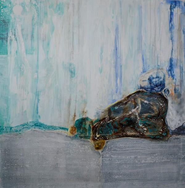 Obra abstracta de BAENA. Pintura en acrilico en 125x125cm