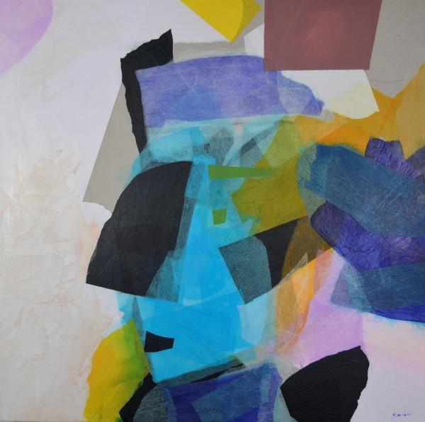 Cuadro abstracto de GUIRAO. Pintura en acrilico en 125x125 cm