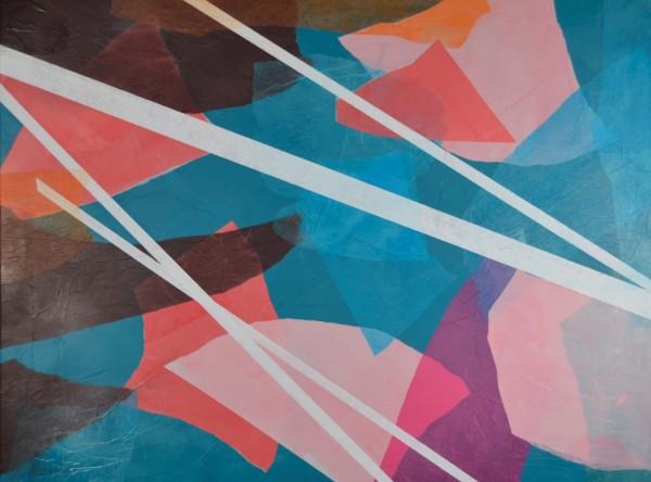 Cuadro abstracto de GUIRAO. Pintura en acrilico en 97x130 cm y 100x150 cm. Pintura arte