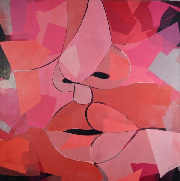 Cuadro figurativo de GUIRAO. Pintura en acrilico en 125x125 cm