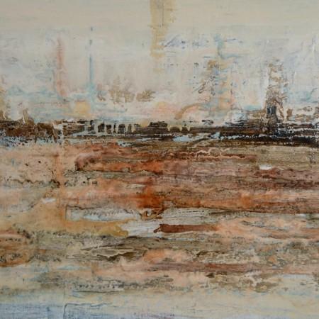 Cuadro abstracto del artista MEDINA. Pintura en acrílico en 150x100cm Y 130X97cm. Pintura arte