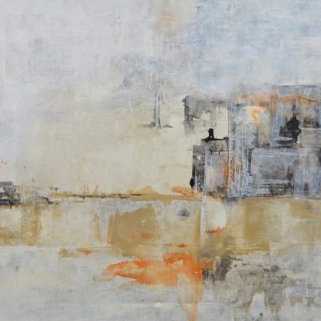Cuadro abstracto del artista JEREMIAS . Pintura en acrílico en 130x97cm y 150x100cm. Pintura arte