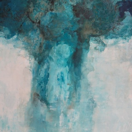 Cuadro abstracto de la artista EMMA. Pintura en acrilico en 130x195cm