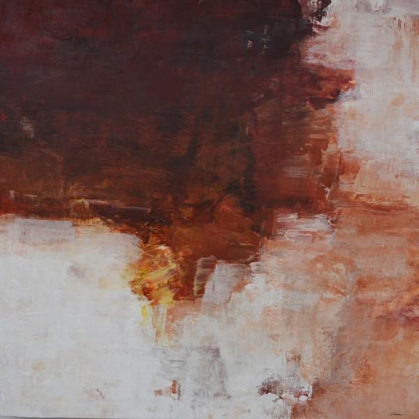 Cuadro abstracto de la artista EMMA. Pintura en acrilico en 150x150cm