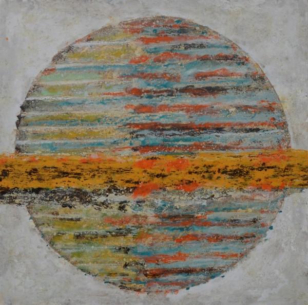 Cuadro abstracto del artista MEDINA. Pintura en acrílico en 100x100cm