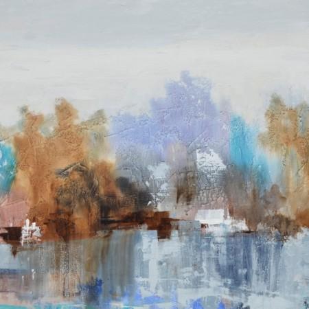 Cuadro abstracto del artista RAUL. Pintura en acrílico en 180X80cm