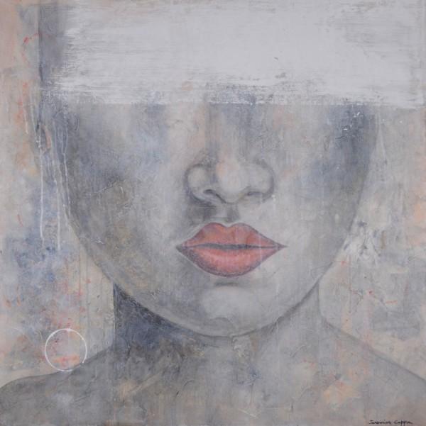 Cuadro figurativo del artista JEREMIAS . Pintura en acrílico en 100x100cm