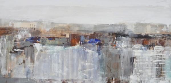 Cuadro abstracto del artista RAUL. Pintura en acrílico en 160X80cm