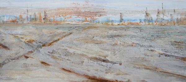 Cuadro abstracto del artista MEDINA. Pintura en acrílico en 160x80cm