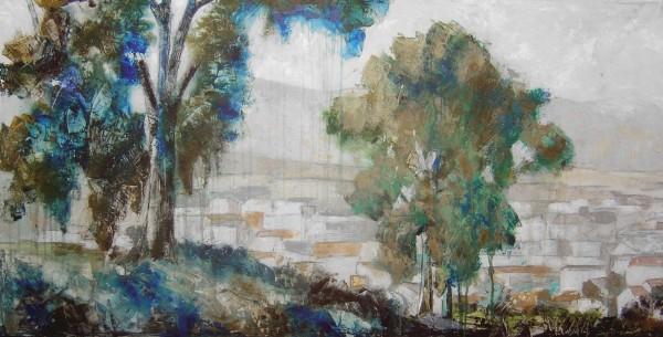 Cuadro figurativo del artista JEREMIAS . Pintura en acrilico en 160x80cm y 180x80cm. Pintura arte