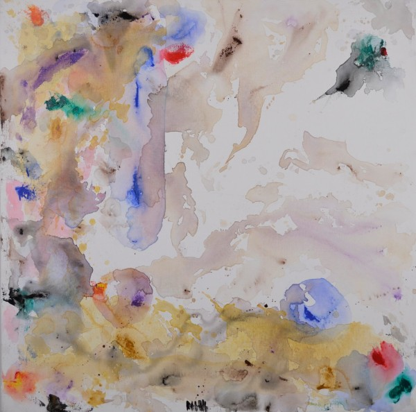 Cuadro abstracto del artista MARZAL. Pintura en acrílico en 100x100cm
