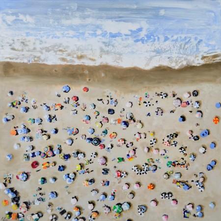 Cuadro figurativo del artista PENADES. Pintura en acrílico en 125x125cm