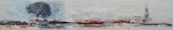 Cuadro abstracto del artista E.PONT. Pintura en acrilico en 148x33cm. Pintura arte