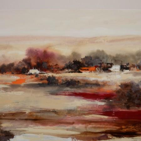 Cuadro abstracto del artista KONRAD. Pintura en acrílico en 160x80cm y 180x80cm. Pintura arte