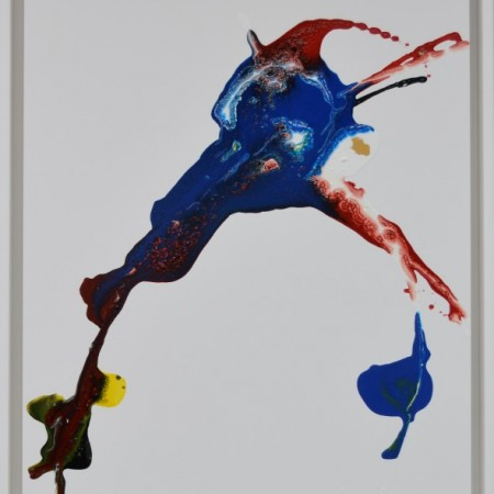 Cuadro abstracto del artista E.PONT. Pintura en acrilico en 68X88cm. Pintura arte