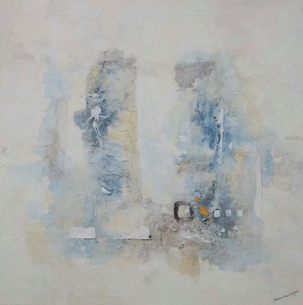 Cuadro abstracto del artista JEREMIAS. Pintura en acrílico en 125x125cm