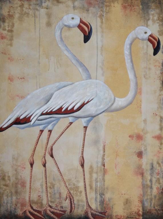 Cuadro figurativo del artista JEREMIAS . Pintura en acrilico en 130x97cm y 150x100cm. Pintura arte