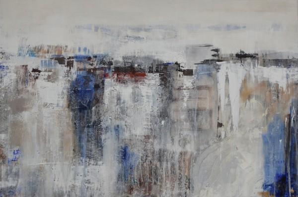 Cuadro abstracto del artista KONRAD. Pintura en acrílico en 150x100cm y 130x97cm. Pintura arte