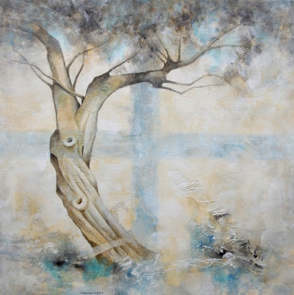Cuadro figurativo del artista JEREMIAS. Pintura en acrílico en 125x125cm