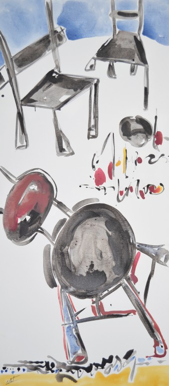 Cuadro figurativo del artista E.PONT. Pintura en acrilico en 80x180cm y 80x160. Pintura arte