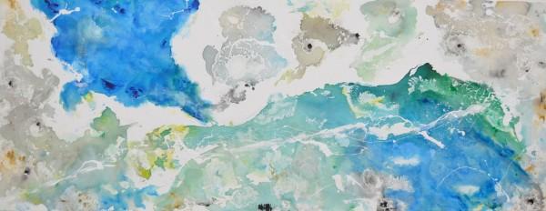 Cuadro abstracto del artista MARZAL. Pintura en acrílico en 180x80cm y 160x80cm. Pintura arte