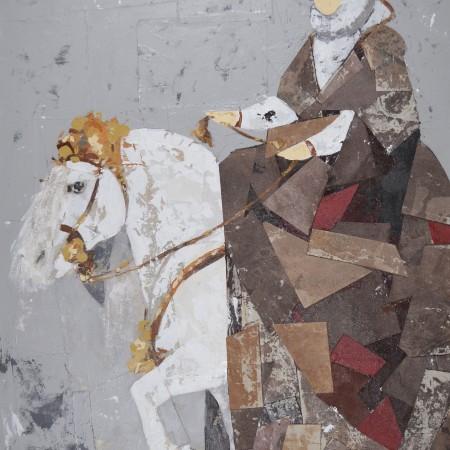 Cuadro figurativo del artista RAUL. Pintura en acrílico en 130x97cm y 150x100cm. Pintura arte