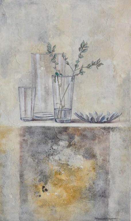 Cuadro figurativo del artista JEREMIAS . Pintura en acrílico en 80x160cm y 80x180cm. Pintura arte