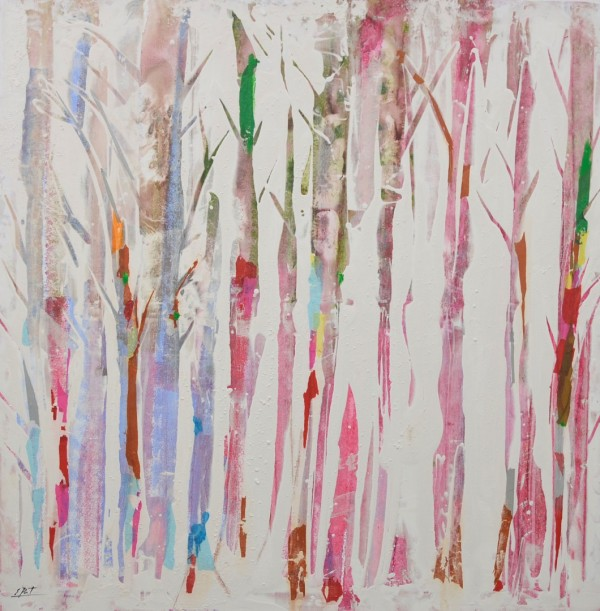 Cuadro abstracta del artista E.PONT. Pintura en acrilico en 150x150cm
