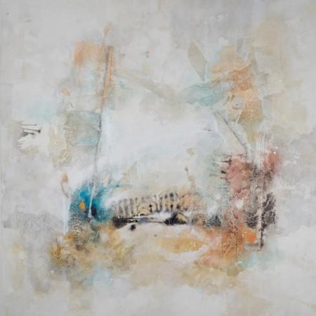 Cuadro abstracto del artista JEREMIAS . Pintura en acrílico en 125x125cm