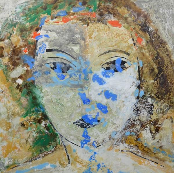 Cuadro figurativo del artista MEDINA. Pintura en acrílico en 125x125cm
