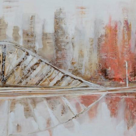 Cuadro abstracto del artista MEDINA. Pintura en acrílico en 180x80cm