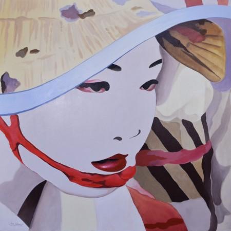 Cuadro figurativo de SERA CLIMENT. Pintura en acrílico en 125x125cm